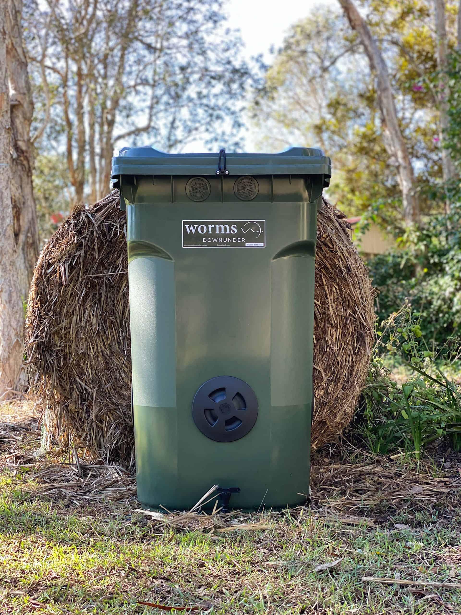 360L Dark Green Worm Bin