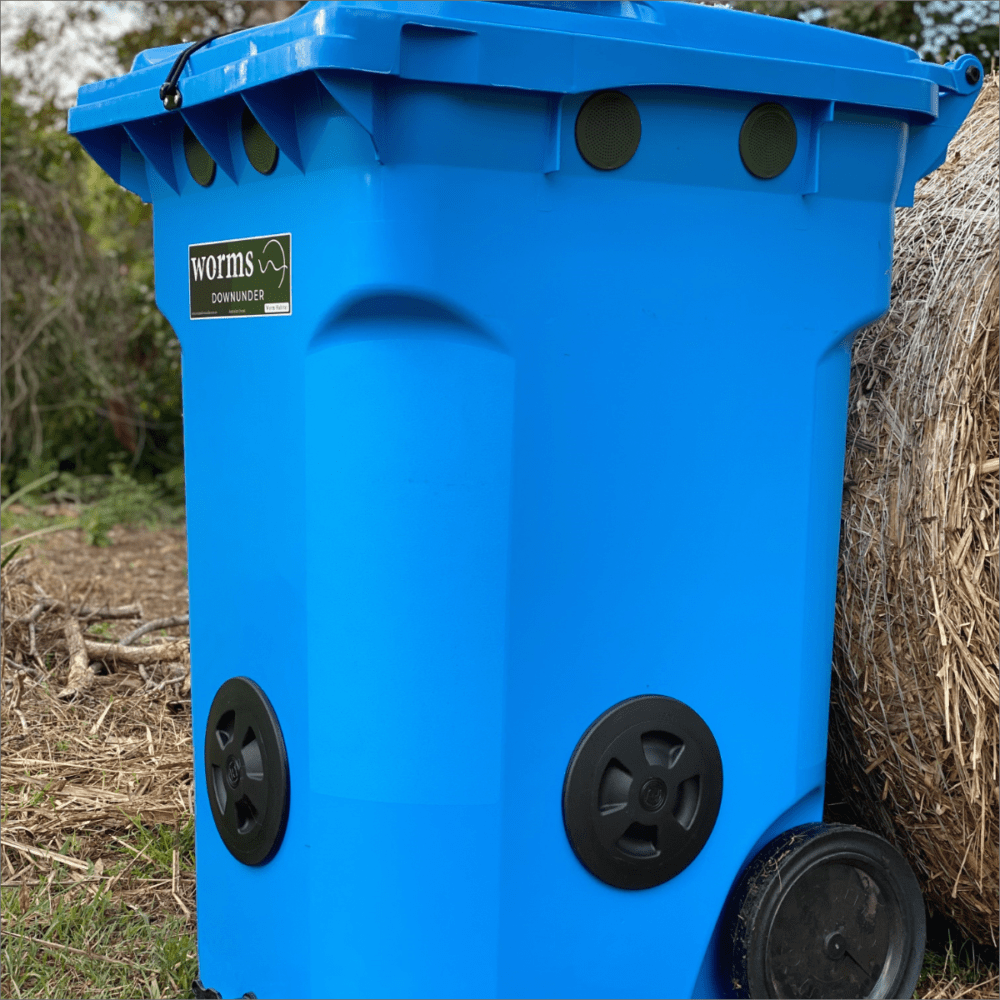 Worms Downunder Australian Worm Farms Habitats And Vermicomposting Experts. 360 L Blue Side 1