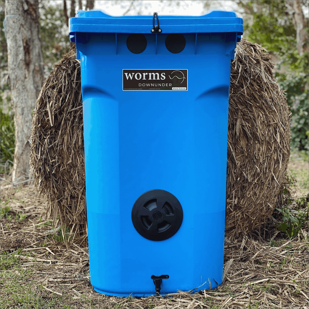 Worms Downunder Australian Worm Farms Habitats And Vermicomposting Experts. 360l Blue 1