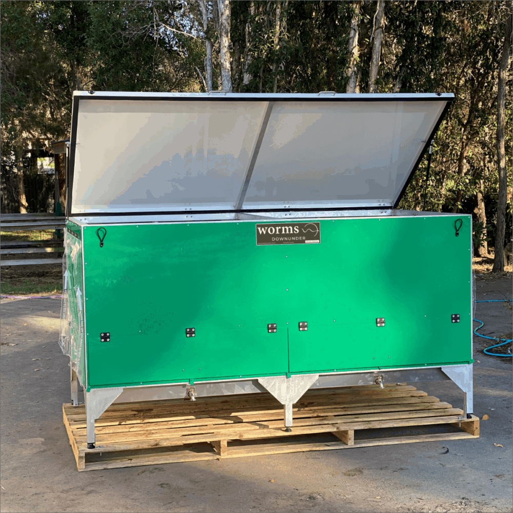 Worms Downunder Australian Worm Farms Habitats And Vermicomposting Experts. Double Grande Commercial Worm Farm Habitat Green.