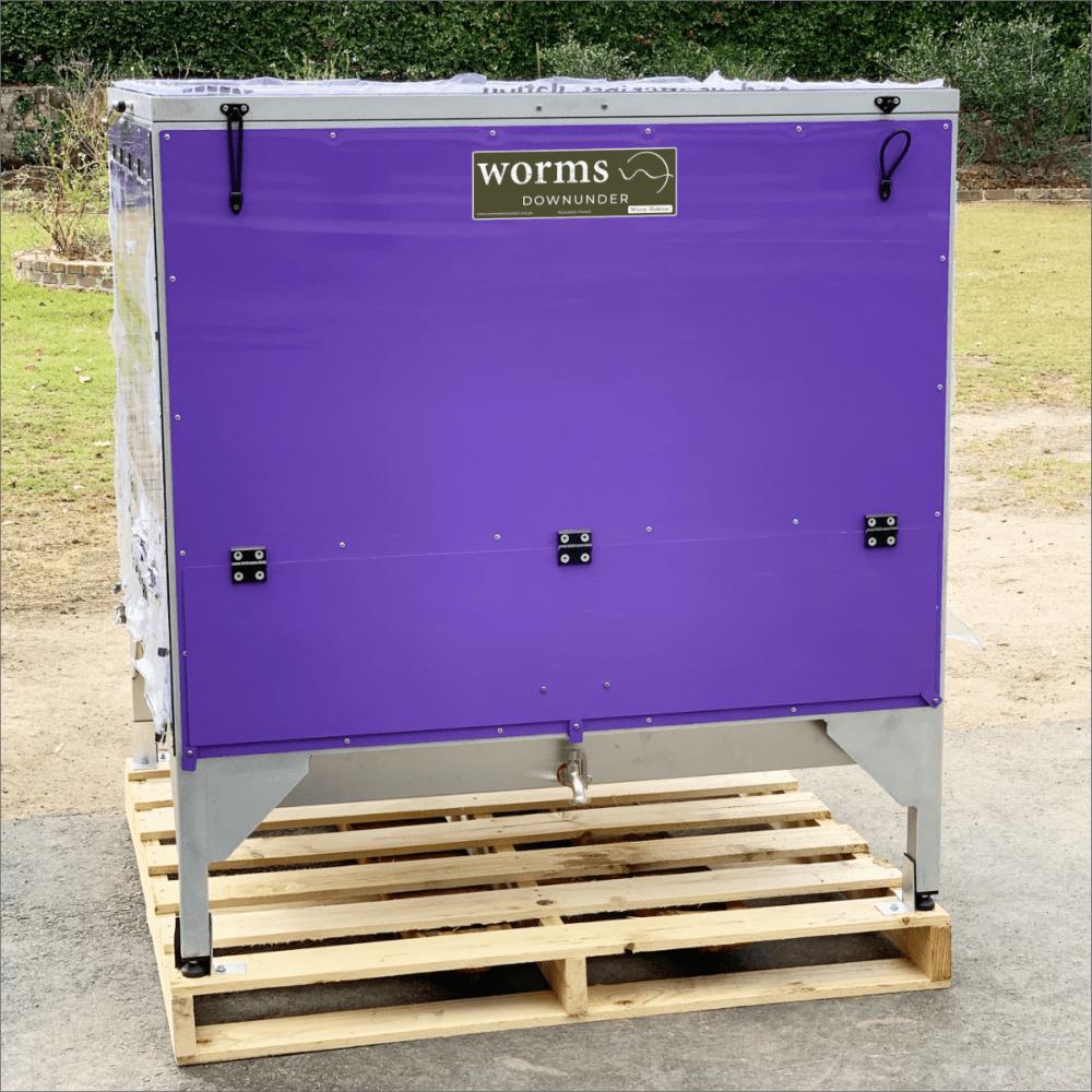 Worms Downunder Australian Worm Farms Habitats And Vermicomposting Experts. Single Grande Commercial Worm Farm Habitat Purple