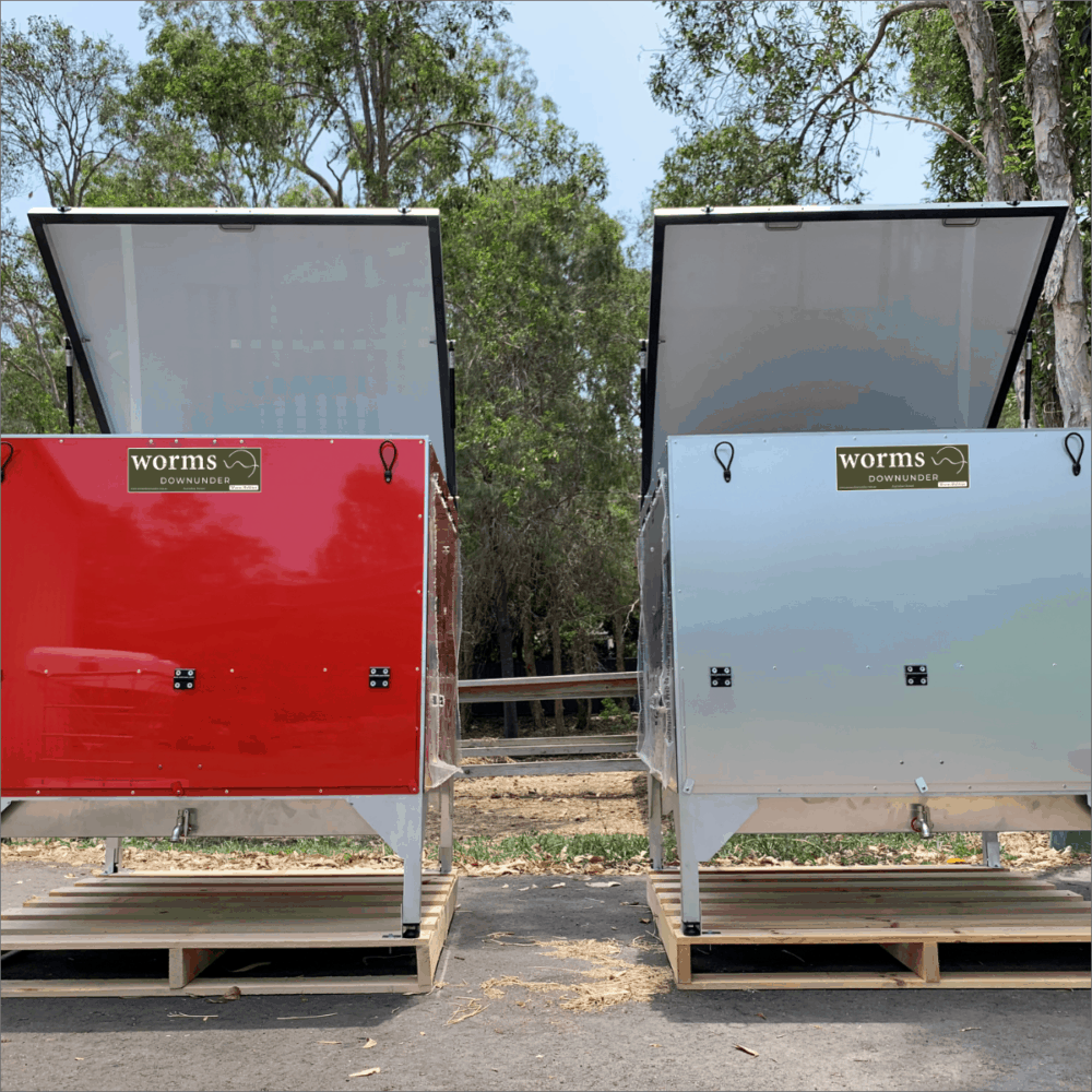Worms Downunder Australian Worm Farms Habitats And Vermicomposting Experts. Single Grande Commercial Worm Farm Habitat Red Silver
