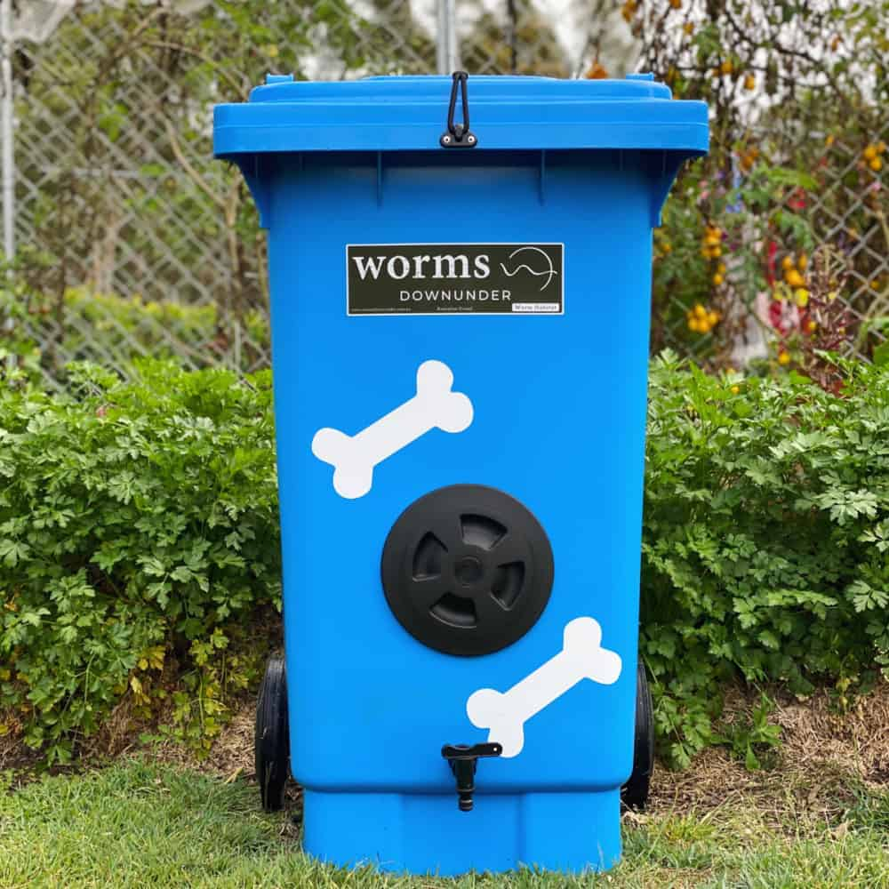Worm Farm For Dogs Blue